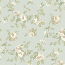"Hyde Park 27' x 27"" Southern Belle Floral Wallpaper"