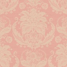 "Gentle Manor 27' x 27"" Harvest Damask Embossed Wallpaper"