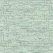 "Ashford Geometrics 33' x 20.5"" Irongate Geometric Wallpaper"