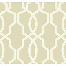 "Ashford Geometrics 27' x 27"" Hourglass Trellis Geometric Wallpaper"