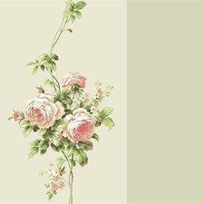 """Casabella II 33' x 20.5"""" Rose Floral Wallpaper"""