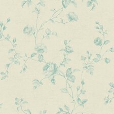 "Kitchen and Bath 33' x 20.5"" Rose Toile Wallpaper"