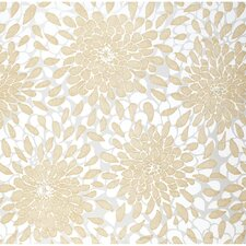 "Risky Business Toss The Bouquet 33' x 20.5"" Floral Botanical Foiled Wallpaper"