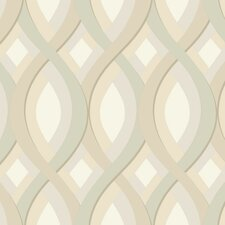 "Candice Olson II 27' x 27"" Trellis Foiled Wallpaper"