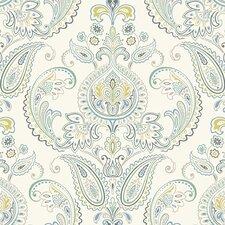 "Candice Olson Inspired Elegance 27' x 27"" Tasara Paisley Wallpaper"