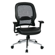 "Space 23"" Professional Air Grid Chair with Eco Leather Seat"