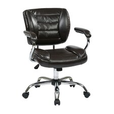 Faux Leather Adjustable Office Chair