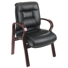 Deluxe Leather Visitors Chair with Top Grain
