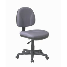 Sculptured Low-Back Task Chair without Arms