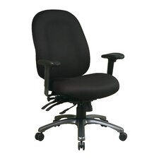 High-Back Office Chair with Seat Slider