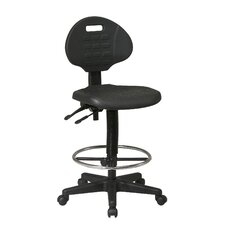 Drafting Chair with Adjustable Footrest