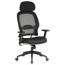 SPACE Air Grid Deluxe High-Back Mesh Conference Chair with Arms
