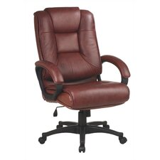 Deluxe High Back Leather Executive Chair