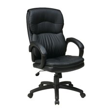 High-Back Eco Leather Executive Chair with Padded Arms