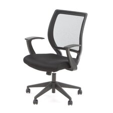 Screen Back Mesh Seat Conference Chair with Fixed Designer Arms