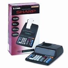 EL-2196BL Desktop Calculator, 12-Digit Fluorescent, Prints BLack and Red