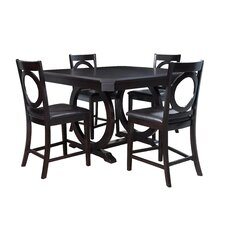 Brigham 5 Piece Counter Height Dining Set