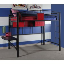 Garage Twin Loft Bed with Ladder