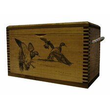 Standard Accessory Box With Rope Handles With Duck Print