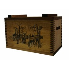 Standard Storage Box With Winter Deer Print