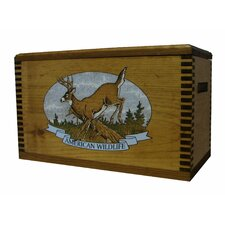 "Wooden Accessory Box With ""Wildlife Series"" Whitetail Deer Print"