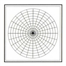 Polar Coordinates Magnetic Graphic/Grid Whiteboard, 4' x 4'