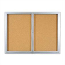 Deluxe Enclosed Wall Mounted Bulletin Board