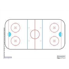 Dry-Erase Coaching Aides Mat Hockey Magnetic Whiteboard, 1' x 2'