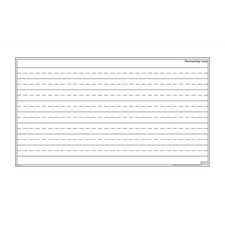 Dry-Erase Teaching Aides Mat - Penmanship Lines Magnetic Whiteboard, 3' x 6'
