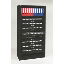 Premium Multimedia 8-Drawer Tambour Cabinet