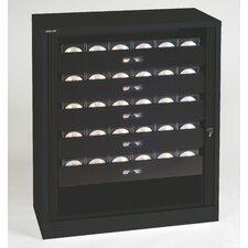 Premium Multimedia 5-Drawer Tambour Cabinet