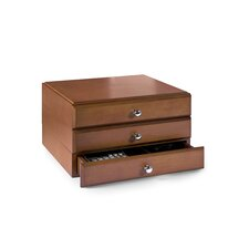 Stacking Wood Desk Organizers, 3 Supply Drawer Kit