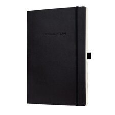 Sigel Softcover Lined Notebook - Large Size with Elastic Closure