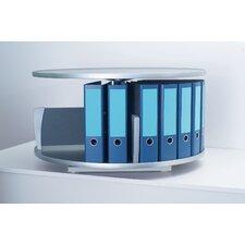 Deluxe Desktop 1-Tier Rotary Binder Storage Carousel