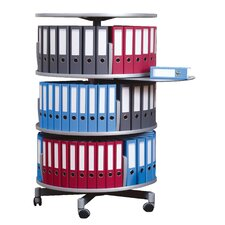 "Deluxe 32"" 3 Tier Rotary Binder Storage Carousel"