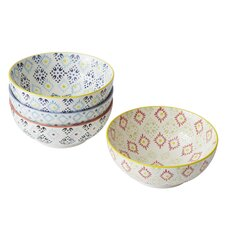 Print 8 4 Piece Dining Bowl Set