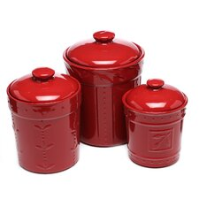 3 Piece Sorrento Canister & Lid Set