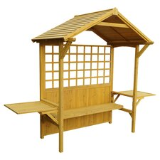 2 in 1 Seated Party Arbor & Barbeque Shelter