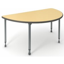 "A&D 30"" Half Moon Classroom Table"