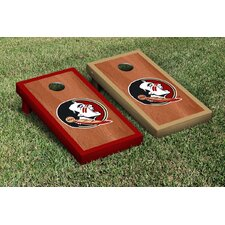 NCAA Stained Wooden Cornhole Game Set