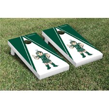 NCAA Michigan State Spartans Triangle Sparty Version Cornhole Game Set
