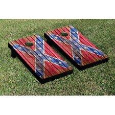 Confederate Flag Distressed Wood Cornhole Game Set