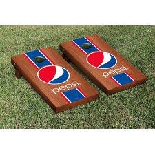 Pepsi Stained Stripe Version Cornhole Game Set