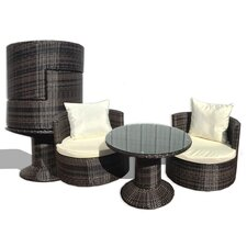 Geo Vino 3 Piece Seating Group with Cushions
