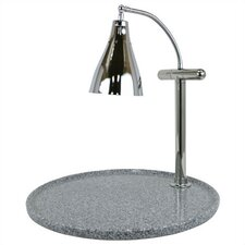 Stainless Steel Single Gooseneck Lamp Round Carving Station