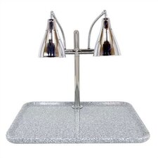 Stainless Steel Dual Gooseneck Lamp Square Carving Station