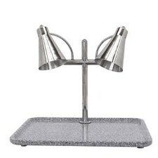 Flex Dual Stainless Steel Lamp Rectangular Carving Station