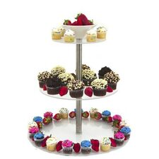 3 Tier Food Riser Tiered Stand