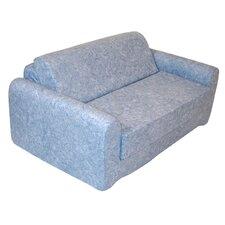 Distressed Denim Children's Foam Sleeper Sofa