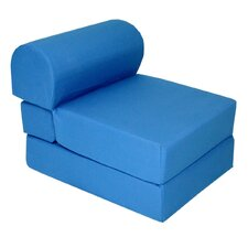 Royal Blue Children's Foam Sleeper Chair